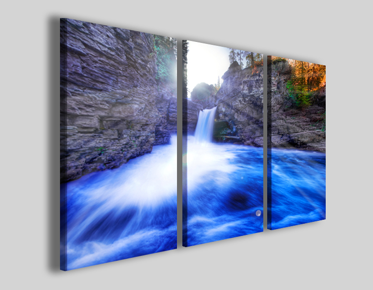 Quadro cascata Blu waterfalls stampe moderne
