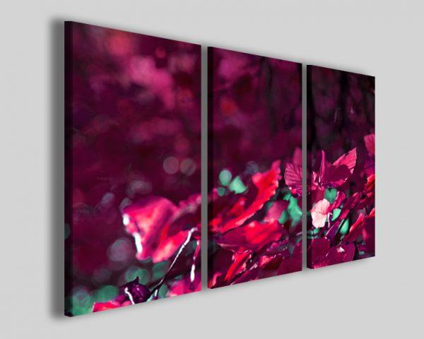 Quadro con foglie colorate Verso il vento stampe fiori
