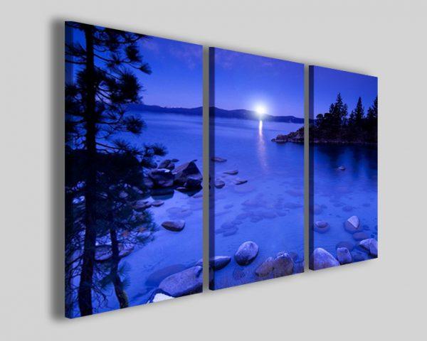 Quadro lago di notte Moonlight lake stampa