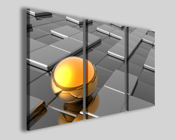 Quadro moderno Digital golden ball stampe moderne