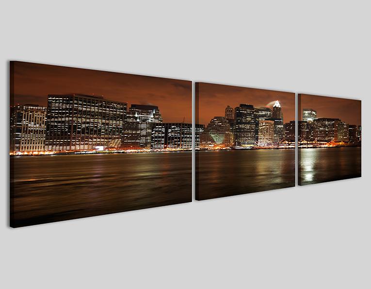Quadro moderno skyline manhattan at night q stampa su tela