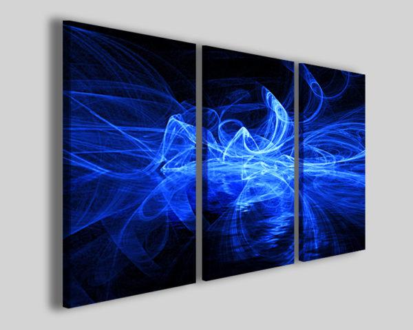 Quadro astratto Blusmoke stampa colorata blu