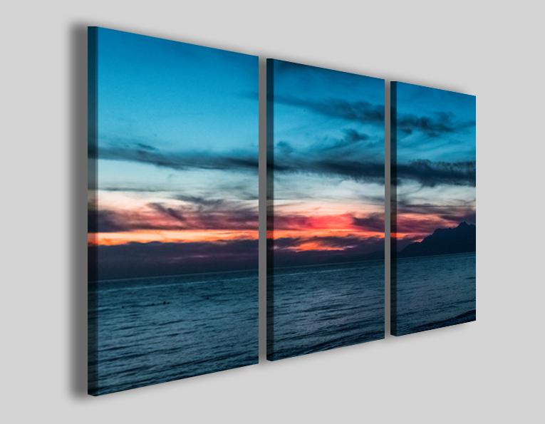 Quadro tramonto Incorses stampa su tela