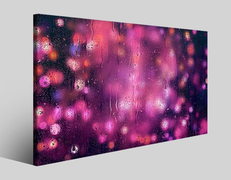 Quadro astratto Raindrop stampa su tela