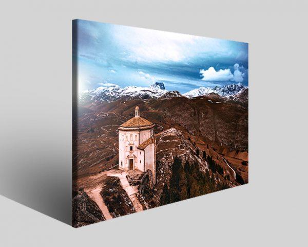 Stampe su tela Rocca Calascio chiesa santa maria la pietà I
