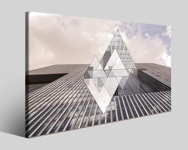 Quadri città Rotterdam triangle stampa su tela