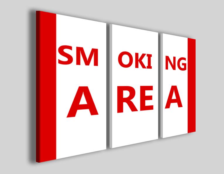 Quadro su tela Smoking area sala fumatori