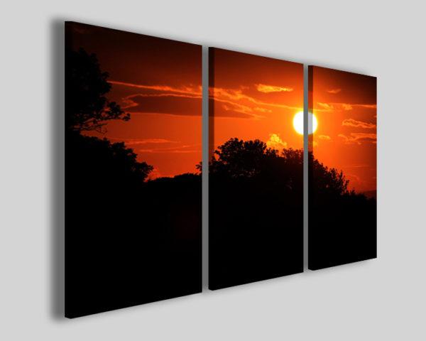 Quadri su tela Schottland sunset stampe canvas