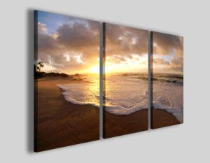 Quadri su tela tramonto Spumeggiante stampe mare