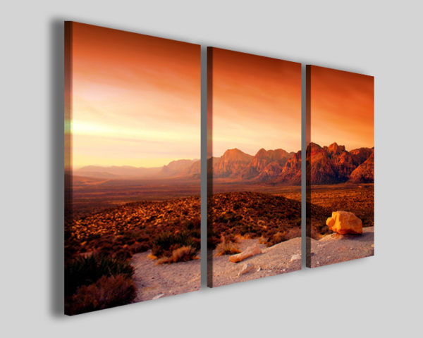 Stampa su tela Canyon nevada sunset quadro