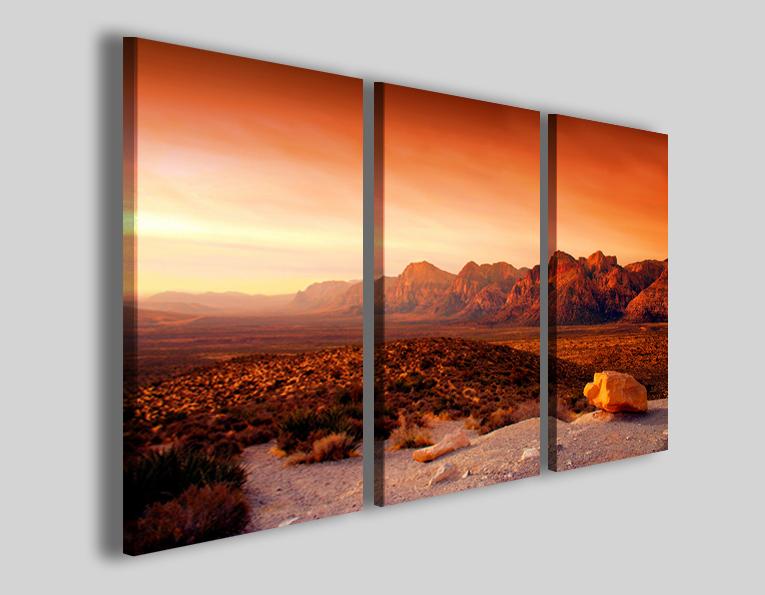 Stampa su tela Canyon nevada sunset quadro