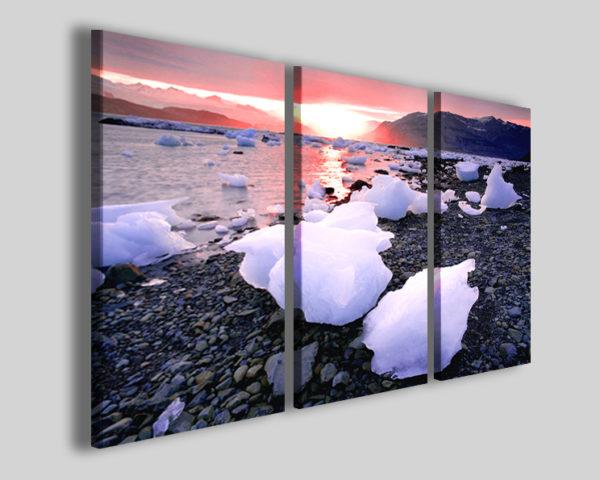 Stampe su tela Glacial landscape quadro neve
