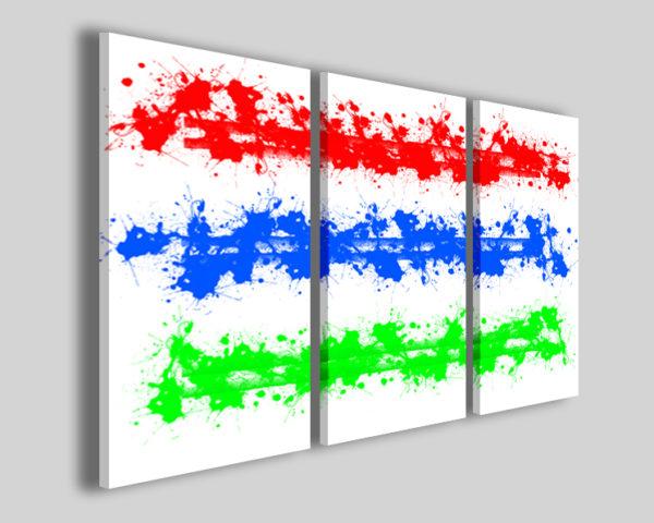 Quadri astratti Three colors immagini astratte