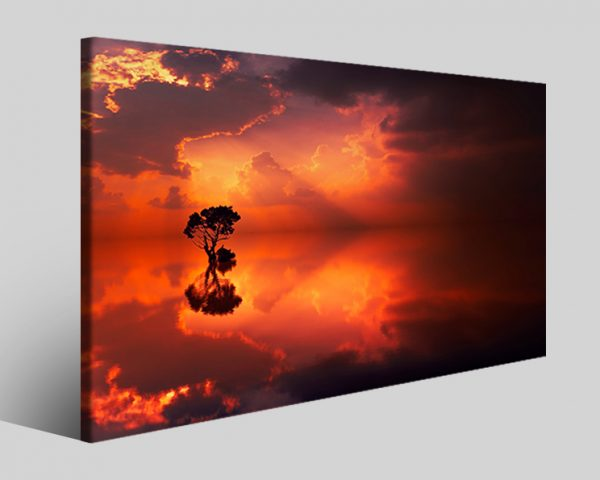 Quadro tramonto Tranquility stampa su tela