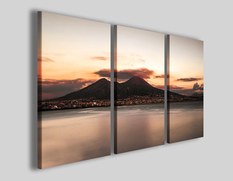 Quadri Napoli Vesuvio sunset II stampe napoletane
