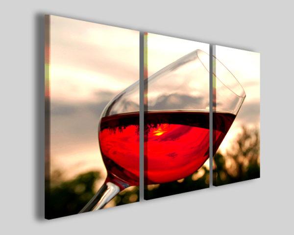Stampa su tela canvas Vine quadro calice vino rosso