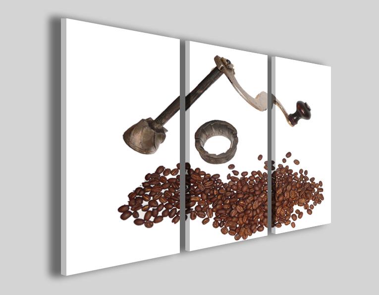 Quadro chicchi di caffè Vintage coffè machine III stampa