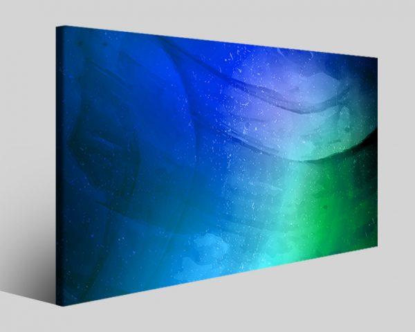 Quadro astratto Wavesblu stampa su tela