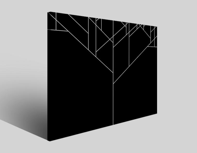 Quadro astratto White line stampa su tela