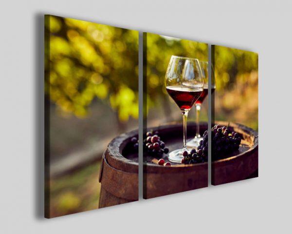 Quadri vino Wine setting stampe arredo enoteca