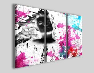 Quadri astratti Woman water effect immagini moderne