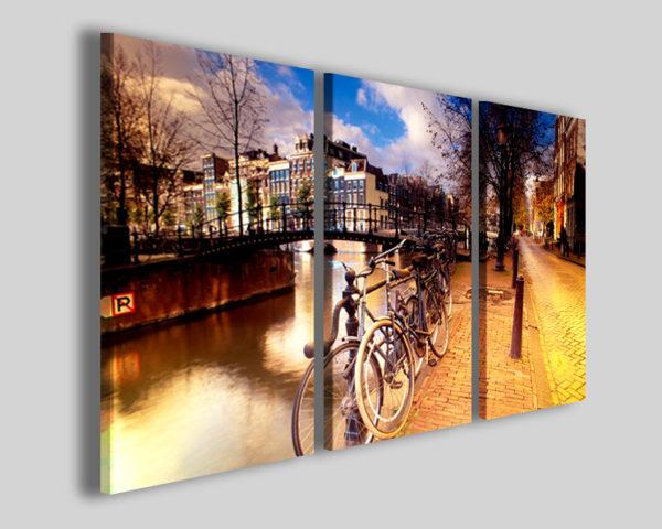 Quadro Bike in amsterdam II stampa su tela olanda