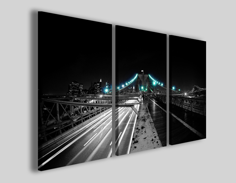 Quadro su tela Blu light bridge stampa ponte