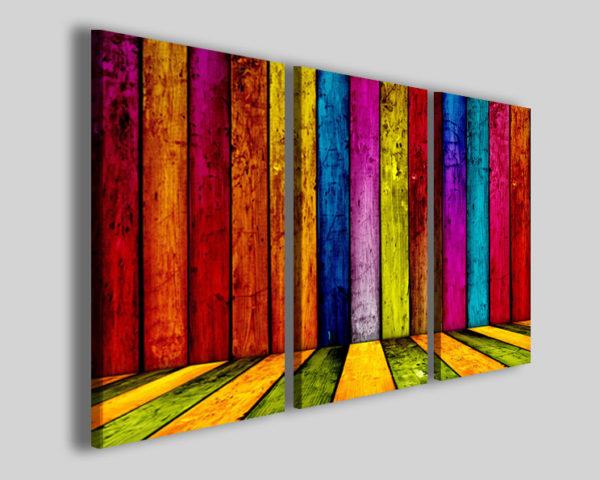 Quadri astratti Colorate lign stampe canvas