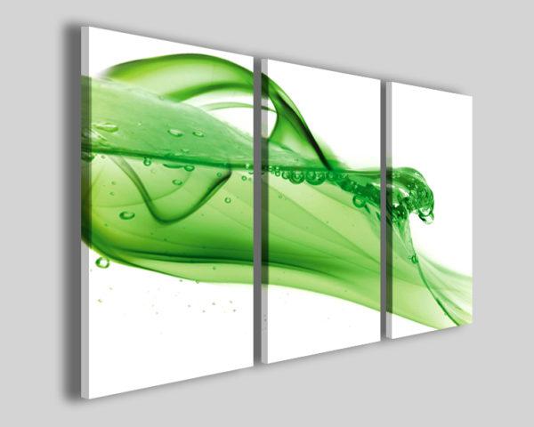 Quadri astratti Green fluid stampe moderne