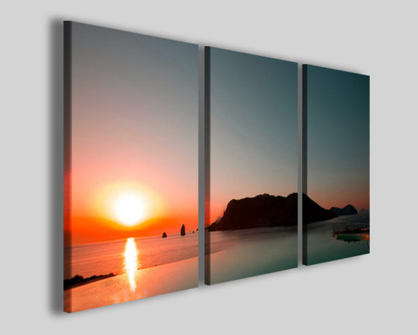 Quadro tramonto Luxury visual stampa canvas