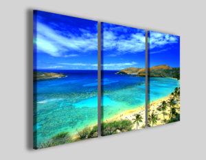 Quadri moderni Palms beach stampe mare spiaggia