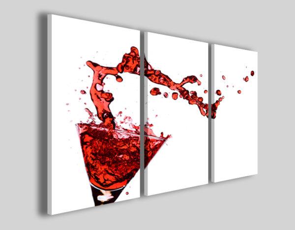 Quadri su tela Red Cocktail stampe canvas
