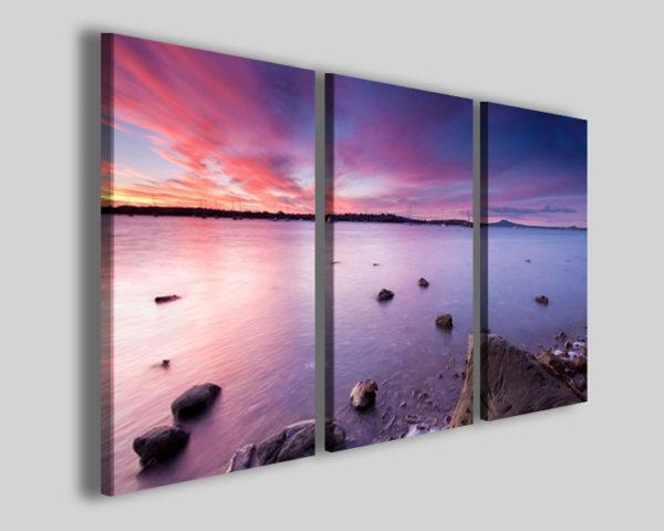 Quadri paesaggi Rose sunset prospective stampe su tela