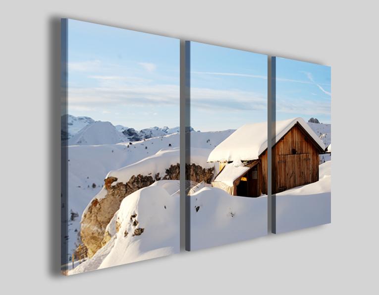 Quadro su tela Snow home stampe neve montagne