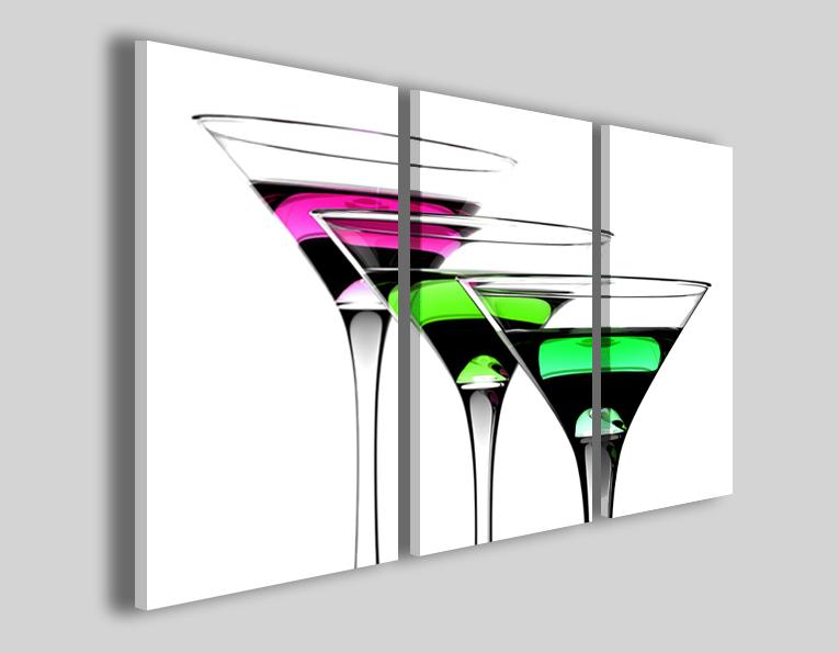 Quadri su tela Sovraposes cocktail tele bar arredamento
