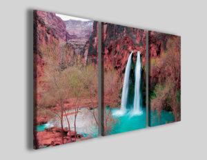 Quadri su tela Specchiate waterfalls stampa cascata