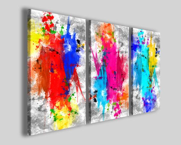 Quadri su tela astratti Spalsh water color stampe