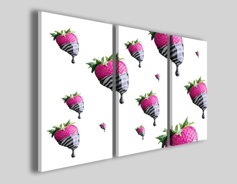 Quadro su tela Strawberry cream stampe canvas