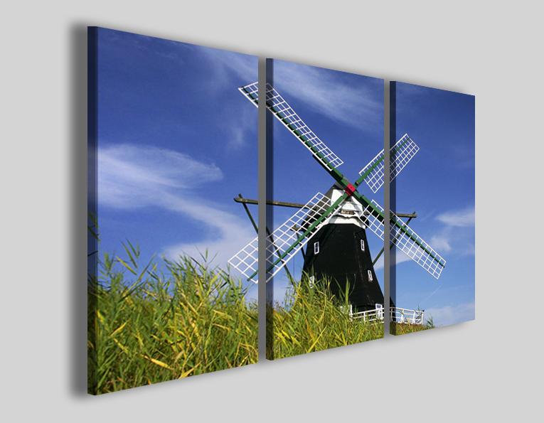 Quadro su tela Swing in air stampa mulino a vento